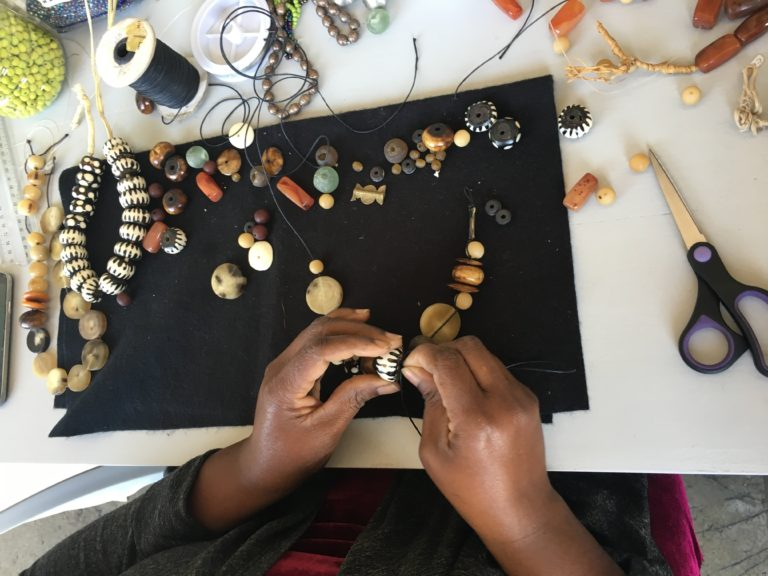 Learn to bead with Mama Beauty Maswanganyi