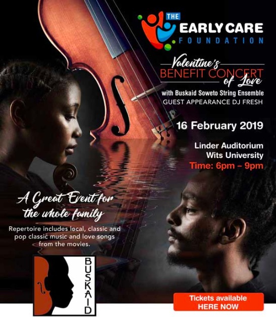 Soweto String Ensemble benefit concert for Early Care