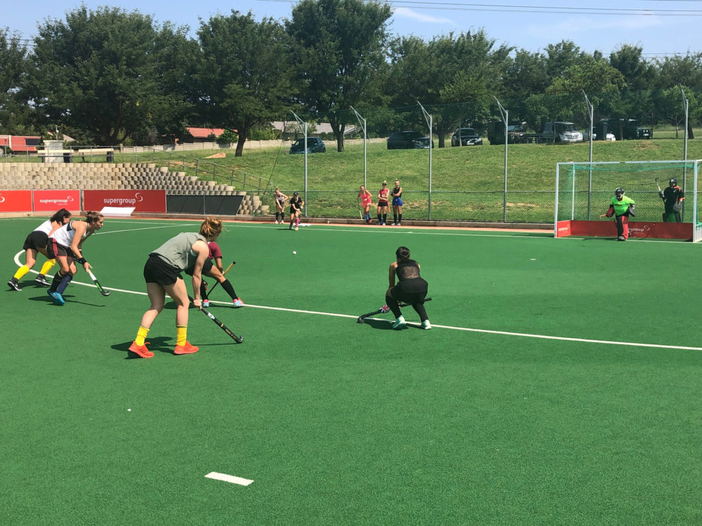 SA Women's hockey - Penalty Corner practice
