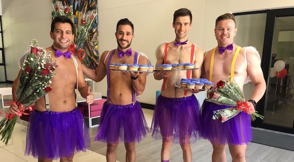 Purple, speedos, Valentines Day and the company we keep