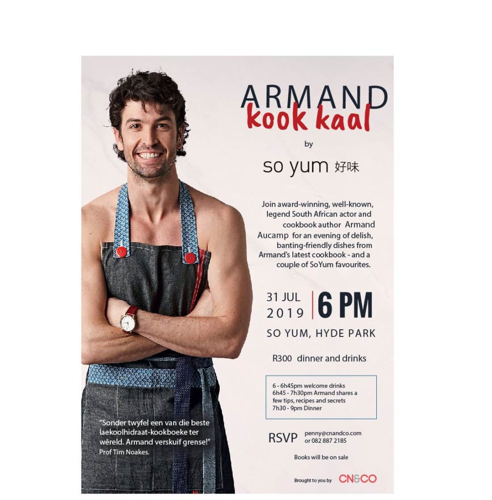 Armand kook kaal – So Yum, 31 July