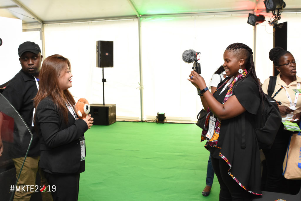 Interviewing an #MKTE2019 hosted buyer from China