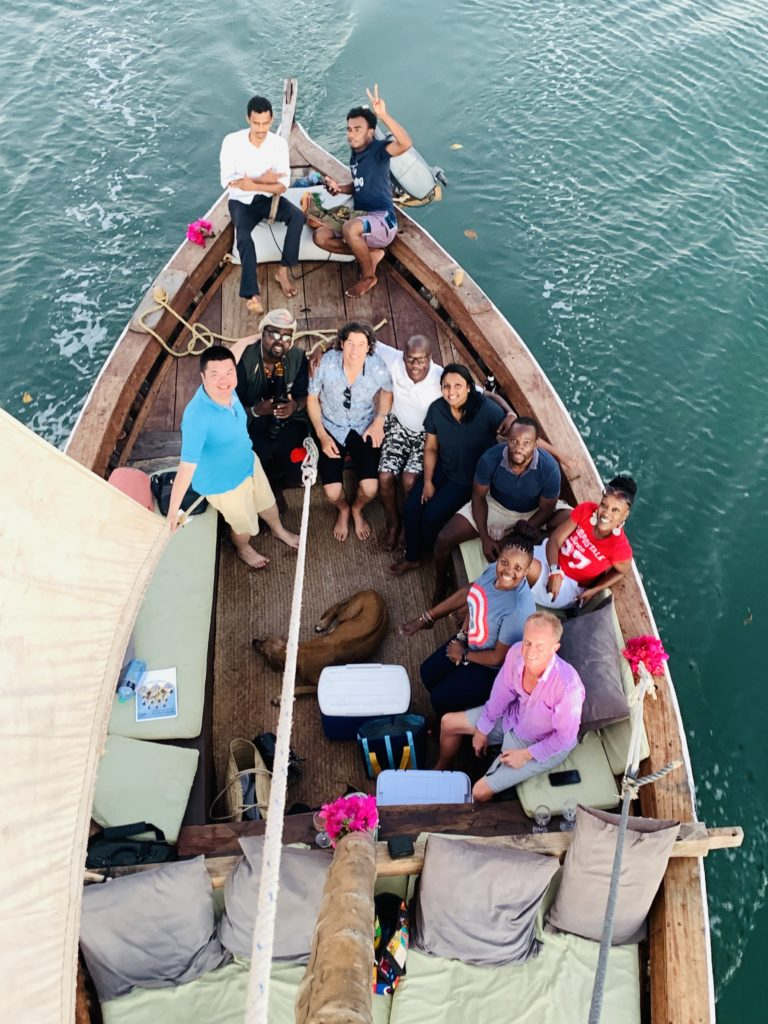 Illustrating a dhow in Lamu