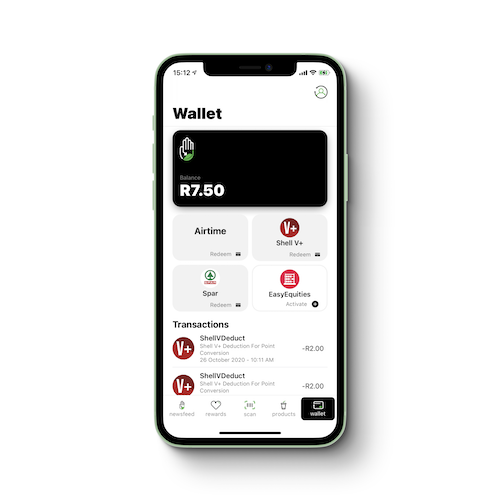 Imagined Earth Wallet and EasyEquities integration